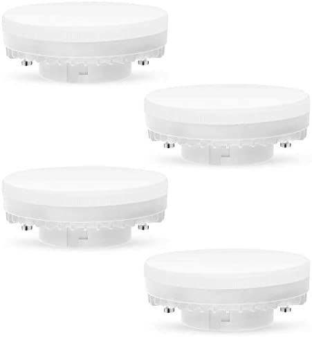 Aourow GX53 LED 7W Bulb Lights Warm White 3000K Non Dimmable,Replace 50W GX 53 Halogen or CFL 9W 13W GX53 Light Bulbs,No Flicker,Bright 560Lumens GX53 240V,120 Deg Angle,Pack of 4 [Energy Class A+]