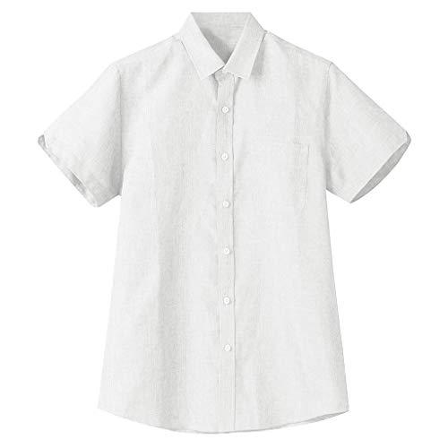 Best Prices! Shirt for Men, F_Gotal Men's T-Shirts Fashion Summer Long Sleeve Cotton Linen Henley Ca...