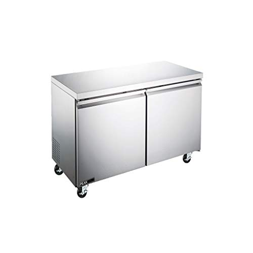 PEAK COLD Commercial Under Counter Stainless Steel Refrigerator; Work Top Low Boy; 48' W