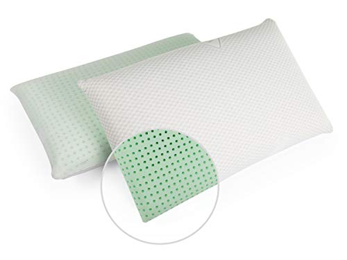 GIU.NE – Almohada de nueva generación de espuma con memoria orgánica, modelo jabón, 12 cm de altura, almohada cervical extra suave, doble confort, ortopédica, ergonómica, funda antiácaros