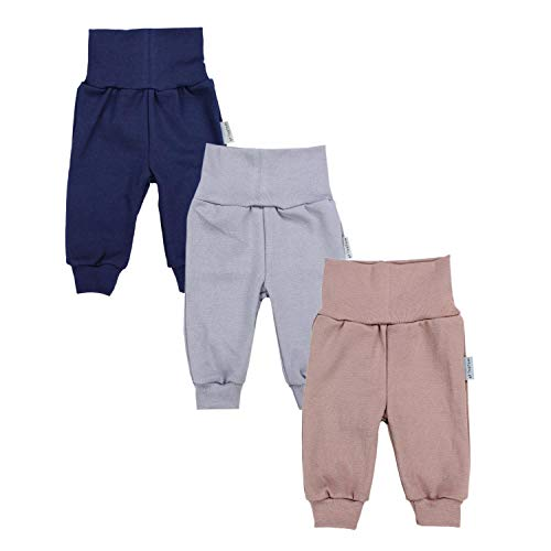TupTam Baby Jungen Hose Jogginghose mit Breitem Bund 3er Pack, Farbe: Farbenmix 1, Größe: 74