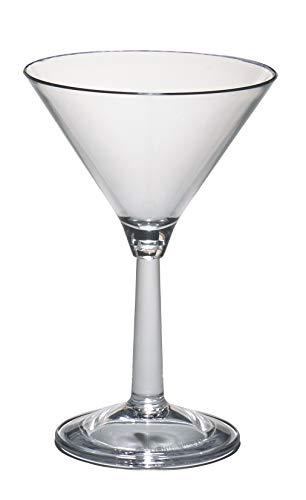 Cambro BWM10CW135 Aliso Clear 10 Oz. Plastic Martini Glass Case of 12