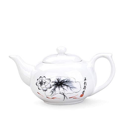 Juego de té chino Teteras Juego de té de la tarde Infusor de té Tetera Tetera Kungfu en línea Color de la flor Opcional Juego de té de cerámica Té de Kung Fu Tiene cerámica Tetera China de hueso Teter
