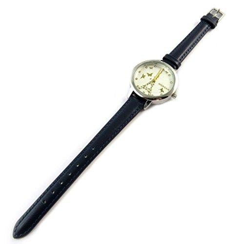 Morgan [N9872] - Designer-Uhr 'Morgan' Silber Marine (Eiffelturm).