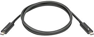 Lenovo Thunderbolt Cable (M) (M) - Thunderbolt 3-2.3 ft - Black - Cru - for IdeaPad S940-14IIL 81R1; ThinkPad Thunderbolt 3 Dock; ThinkPad P53s; X395