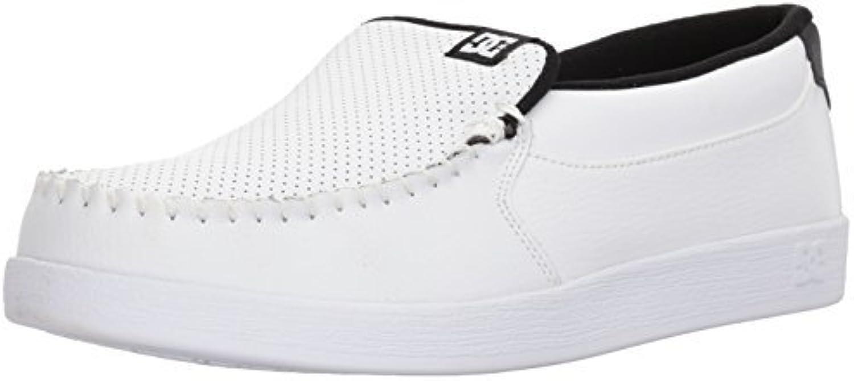 DC shoes Men's Villian Slip On shoes White Black Basic 10