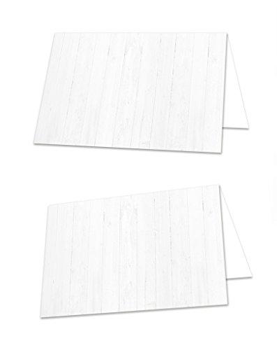 25 stuks witte houtlook, neutrale universele blanco tafelkaarten, naamplaatjes, naamkaartjes, tafelstandaard, zitkaarten, plaatskaarten, met elke pen beschrijfbaar om zelf te maken
