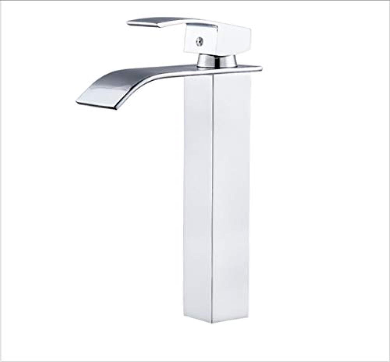 Quadratischer Hahnwasserfallhahn heier und kalter Wasserbassinhahn