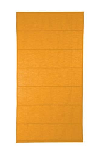 KAATEN - Estor Plegable con Varillas/Basico Naranja/Tejido LONETA/ACCIONAMIENTO A CORDÓN/Medida 135X175