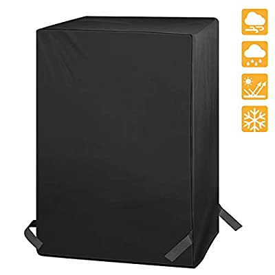 """iCOVER G21615 Cover-600D Heavy Duty Canvas Waterproof BBQ Smoker Grill Cover Pit Boss Smoker, Black, 21"""" x 21"""" x 33"""""""