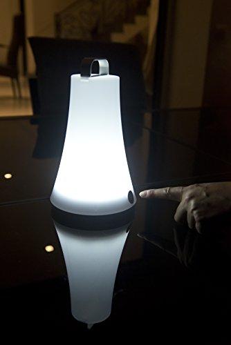 Lumisky BAT-OE5 - Lámpara portátil (14 x 14 x 23 cm), diseño con forma de farol, color blanco
