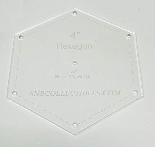 Choice of In stock Size Acrylic Hexagon Template Quilt 7.50
