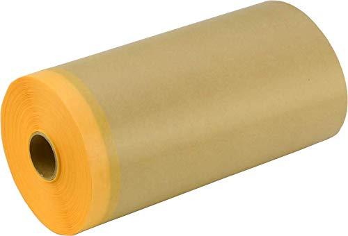 エス・オー・エー(S.O.A.) 和紙テープ付き紙マスカー 車輛用和紙マスキングテープ付きクラフト紙マスカー AKK3MDYP15035 車輛塗装用 50入