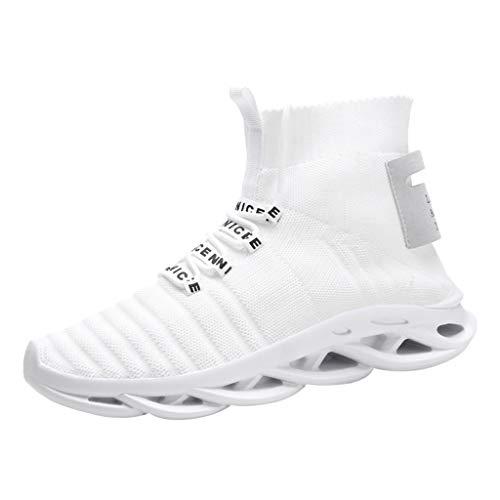 Alwayswin Herren Breathable Freizeitschuhe Fashion Hip-Hop Sneakers Schuhe Leichte und Bequeme Turnschuhe Mesh Outdoor rutschfeste Laufschuhe Fitnessschuhe Sportschuhe Schnürschuhe