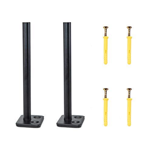 POWERTEC 67001 soportes de montaje para estante flotante | varillas de acero de 6 pulgadas de alto rendimiento de 1/2 pulgada de diámetro con herramientas de montaje – Juego de 2