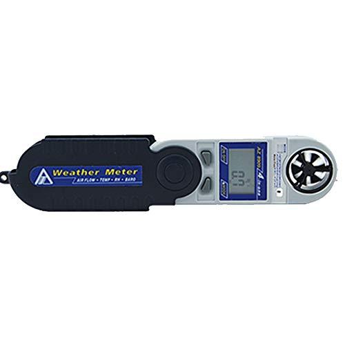 Zcyg Anemometer Wind Speed Meter Digitaler Windmesser mit Windgeschwindigkeit, Temperatur, Luftfeuchtigkeit, Windkälteindex, Luftdruck, Wärmeindex und Höhenmessung