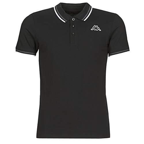 Kappa ESMO T-Shirts & Poloshirts Herren Schwarz - L - Polohemden