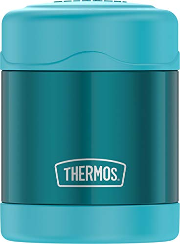 THERMOS FUNTAINER 10 Ounce Stainless Steel Vacuum Insulated Kids Food Jar, Teal