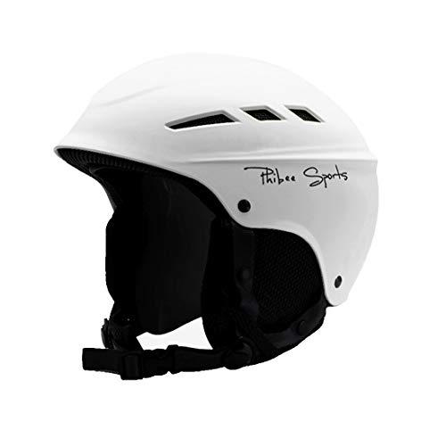 Tuzi Qiuge Helm Einzel- und Doppel Platte Skifahren Professionelle Schutzhelm 8 Air Vents PC Shell Einstellbare Buckle Eltern-Kind-Schutzhelm, Größe: M, Fit for 56-60cm (weiß). QiuGe