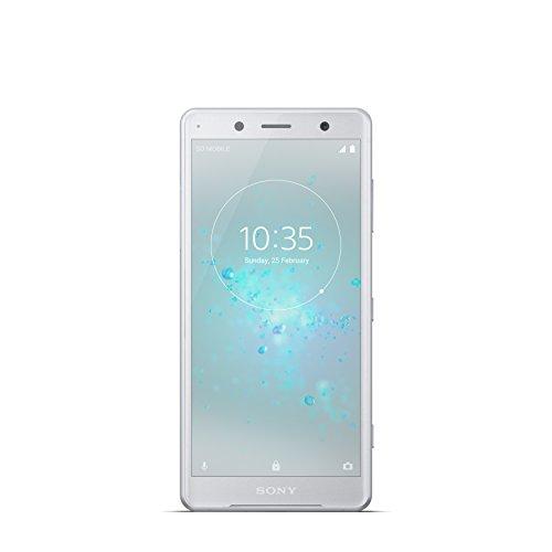 "Sony Xperia XZ2 Compact Smartphone, Display 5.0"", 64 GB, Mono Sim, Bianco/Argento [Italia]"