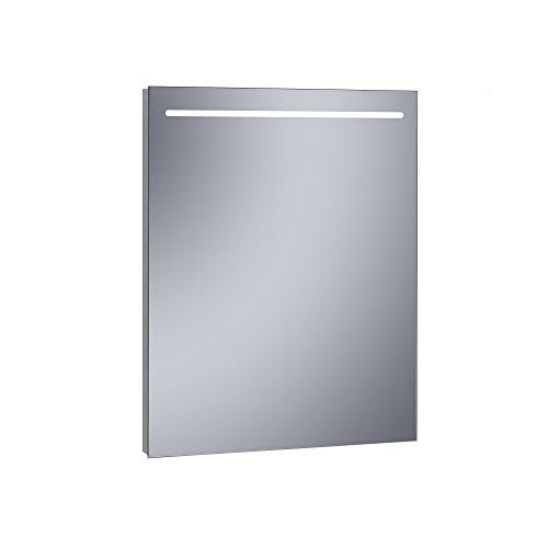 Kristaled Eco 60x80 cm Espejo de Baño Estriado con Luz Led Frontal, Cristal, Plateado, 60x80x2.5 cm