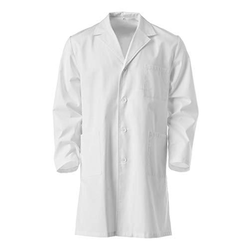Freebily Bata Blanca Bata de Laboratorio Traje Disfraz de Doctor Enfermera Cocinero Chaqueta para Ni/ño Ni/ña Unisex Cosplay Uniforme