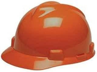Orange V-Gard® Advance Class C Type I Polyethylene Vented Hard Cap With Fas-Trac® 6-Point Suspension And Glaregard™ Underbrim