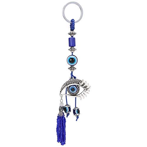 Pssopp Schlüsselbund, türkische augenförmige Anhänger, modischer Schlüsselring, Charm Anhänger Geschenk...