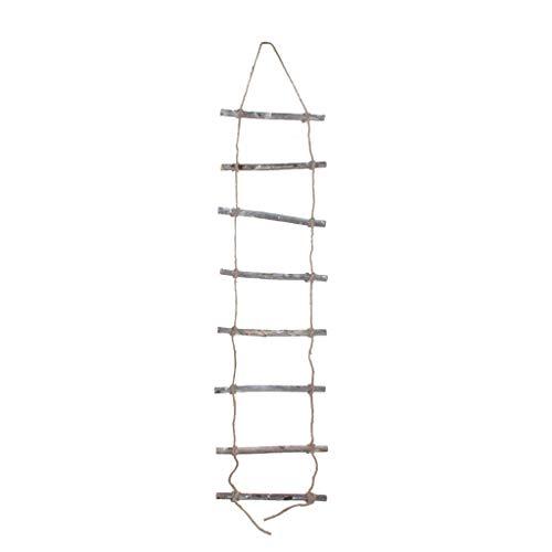 Houten ladder om op te hangen 24 x 98 cm natuur - 62232