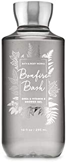 Bath and Body Works Bonfire Bash Shower Gel Wash 10 Ounce Fall 2019 Collection Gray Bottle
