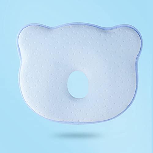 Almohada para bebé, almohada de bebé (versión mejorada), funda de almohada lavable, almohada de bebé, almohada pequeña, almohada de cabeza plana para bebé, cojín de espuma con memoria
