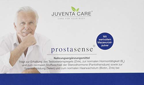 Juventa Care prostasense - Nahrungsergänzungsmittel - trägt zur Erhaltung des Testosteronspiegels (Zink) und normalen Hormontätigkeit (B6) bei, 60 Kapseln