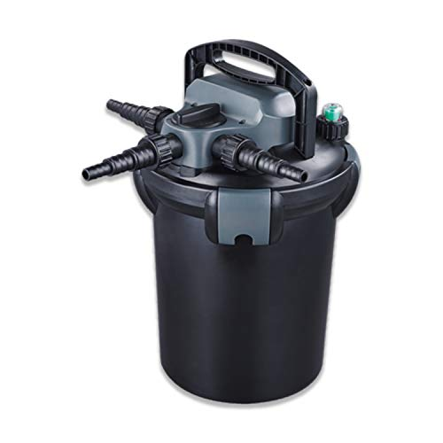 HALF OFF PONDS HOPPF-H1000 Pressure Filter with Handle 9-Watt UV for Ponds to 2,000 Gallons