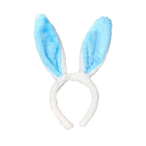Bandeau Filles, Sensail Décoratif Pâques Bandeau de cheveux de bandeau de lapin pour les Filles Adulte Bandeaux headbands et serre-têtes (Bleu)