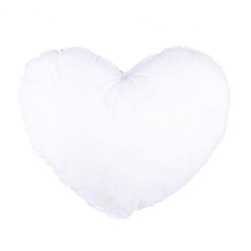 Herzform Kisseneinsätze Baumwolle Niedlich Kissen Innenkissen Einsätze 42 x 36 cm (Weiß)