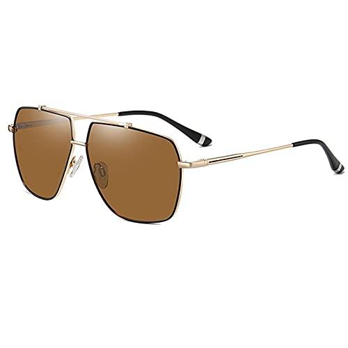 AMFG Gafas de sol polarizadas para hombres Mujeres Retro Gafas de sol Hombre para conducir deportes de pesca (Color : D)