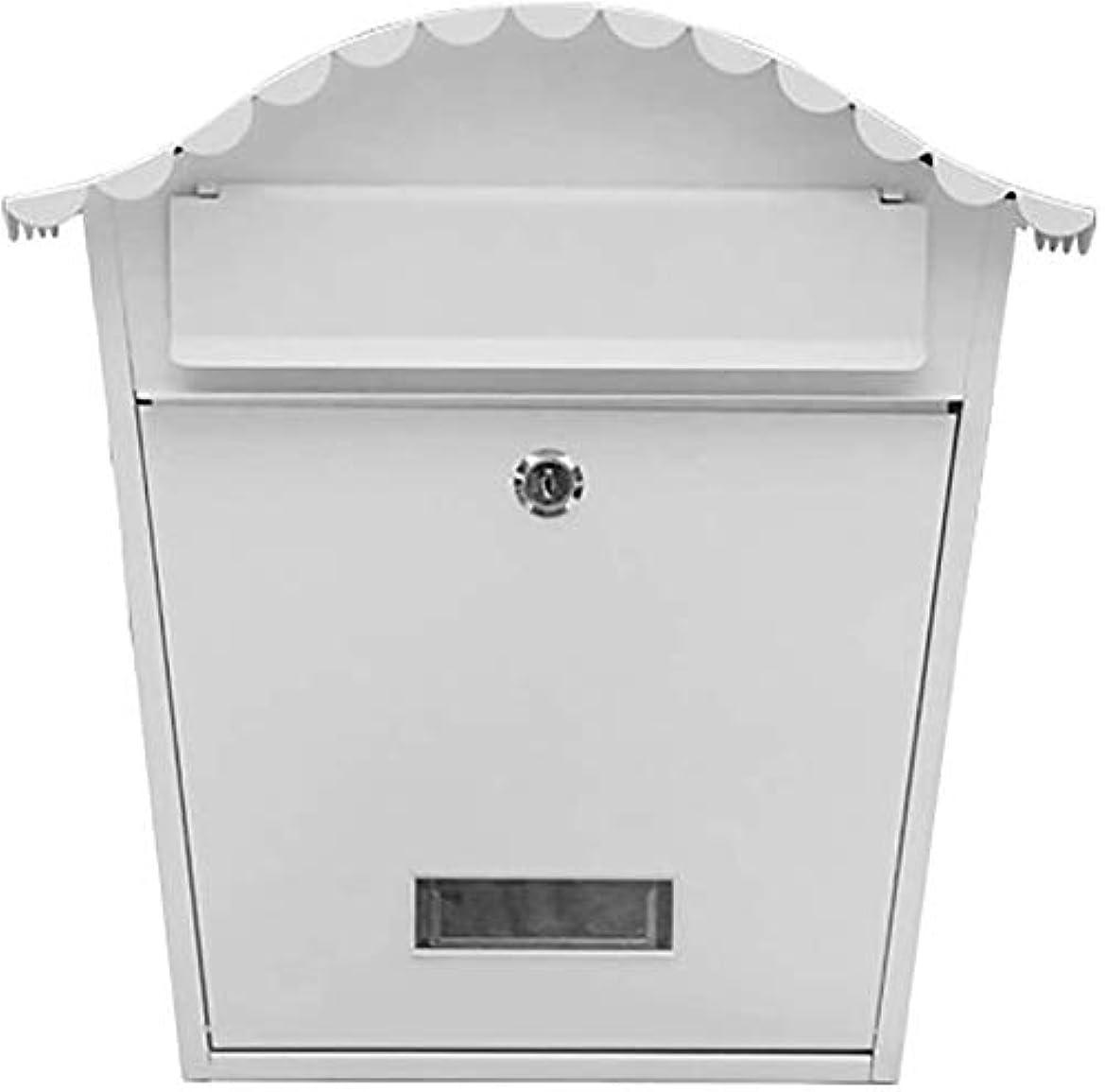 受信発掘する干渉するポスト郵便受け 壁掛け アウトドアメールボックス現代の壁のマウントロック可能な電流を通された金属のキー大容量の商業農村家の装飾&オフィス提案ボックス 1103 (Color : D)