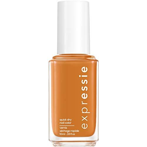 essie expressie Quick-Dry Vegan Nail Polish, Saffr-On The Move, Warm Brown Orange, 0.33 Ounce