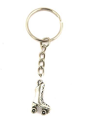 schmuck-stadt Rollschuh Schlüsselanhänger silberfarben Taschenanhänger