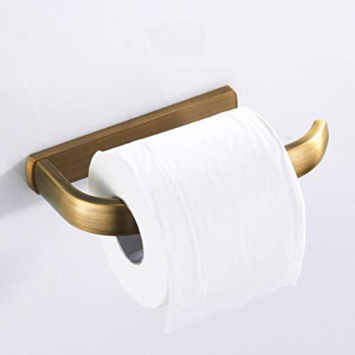 Soporte de papel higiénico de latón de color antiguo para baño Soporte de rollo de papel de cocina de baño Accesorios de baño retro Soporte de rollo de papel higiénico de latón antiguo de latón macizo