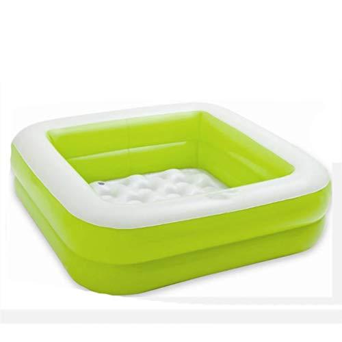 gujiu Hogar Suave Piscina Infantil Inferior Infantil, Piscina Inflable de PVC (Color: Verde, Rosa, tamaño: 85 * 85 * 23cm) (Color : 1)