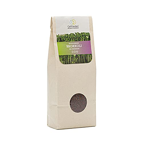 Cell Garden® Brokkoli Samen Bio | 200 g – Brokkoli Sprossen Samen für Sprossen und Microgreens mit hohem Sulforaphan-Gehalt und Keimfähigkeit - 100{cec937d7fb74160ed896fb394aebdc76874c3baa2cf628899d5a27623067dce0} Laborgeprüfte BIO-Qualität