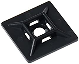South Main Hardware 888089 1-in Mounting Pad, 100-Pack Black, Speciality Cable Tie, 100 Piece