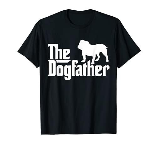 Mens The Dogfather Bulldog/ Men's English Bulldog Dad T-Shirt T-Shirt