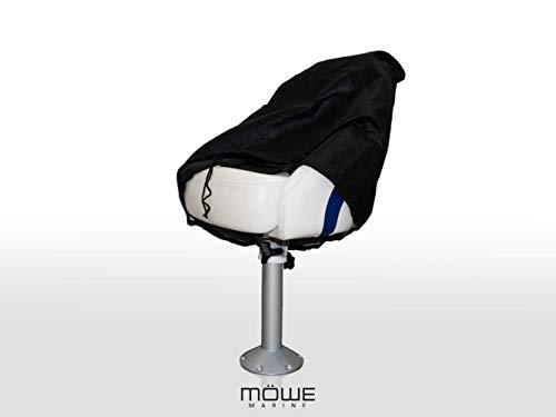MÖWE MARINE afdekking voor bootstoelen zwart beschermhoes stoelbeschermer stuurstoel artikel 3150