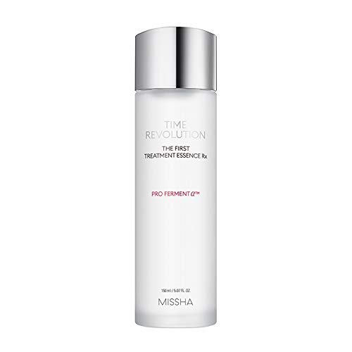MISSHA Time Revolution The First Treatment Essence RX 150ml - Essence/Toner that Moisturizes and Smoothes the Skin Creating A Clean Base - Amazon Code verified for Authenticity