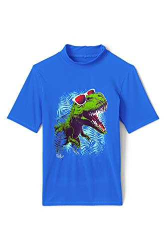 Lands' End Boys Graphic Rashguard Dino Little Kid Large