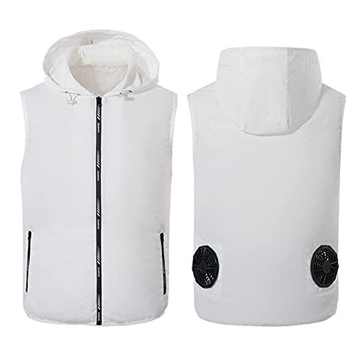 Huaji Traje de ventilador de verano de los hombres Chaleco de refrigeración de las mujeres de la ropa de refrigeración inteligente de color puro aire acondicionado Cool Coat