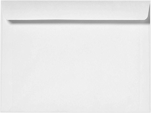 7 1/2 x 10 1/2 Booklet Envelopes - 24lb. Bright White (50 Qty) | Perfect for Catalogs, Jumbo Cards, Annual Reports, Brochures, Magazines, and More! | 24lb Paper | 12252-50