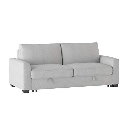 Lexicon Fairbon Convertible Studio Sofa Sleeper, Grey